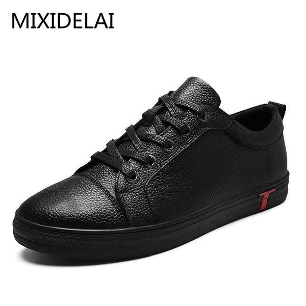 Erkekler Gerçek Deri Ayakkabı Dantel-up Siyah Ayakkabı Gerçek Deri loafer'lar Mens Makosenler İtalyan Tasarımcı Flats Ayakkabı Boyut