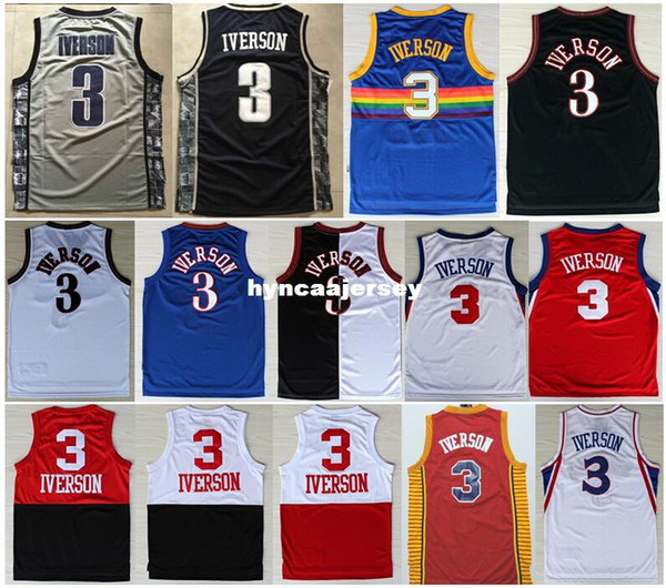 salable Wholesale Retro #3 Allen Jersey High Quality New Style AI College Basketball Jerseys Embroidered Ncaa