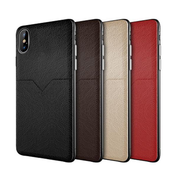 Yeni Deri Kılıf Cep Telefonu Kılıfı Kredi Kartı Yuvaları Için iphone XR XS MAX X 6 7 8 Artı S8 S9 S10 Artı Not 8 9 Huawei Xiaomi Durumda