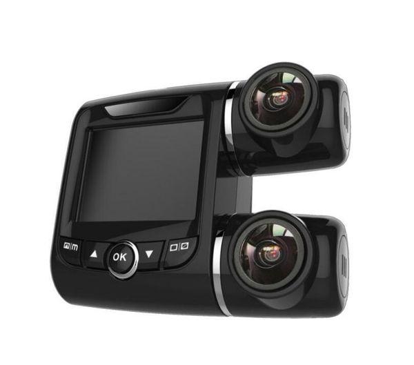 Videocamera auto DVR universale Videocamera portatile doppia lente Visione notturna portatile Guida registratore Videocamera Full HD 1080P Mini Video da 2,0 pollici