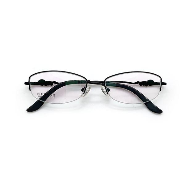 Новая мода женские очки чистый титан близорукость очки кадр тенденция литературных женщин половина кадра