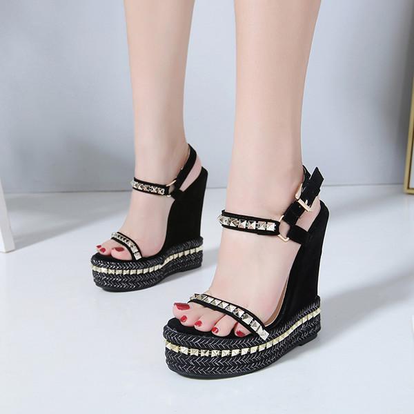Decoración Compre 2018 Mujer Gladiador Sandalias Cuñas Plataforma Estilo Roma Cristal Cómodas Zapatos Nuevo Tacón De XiuPwZTlOk