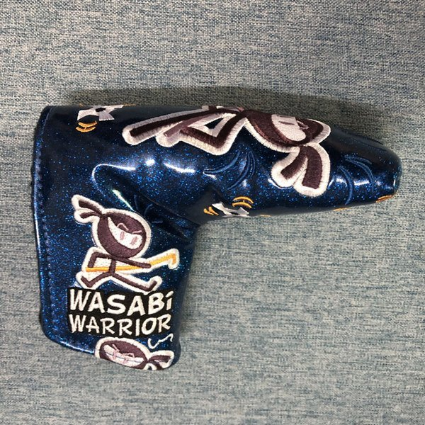 top popular New Released Wasabi Golf Putter Cover Custom Design Golf Blade Putter Headcover Shinning PU Leather 2019