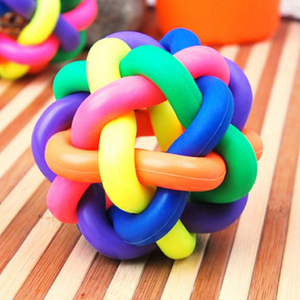 Locomotive Dog Cat Toys Medium, Please Color Ball Sound Toys Seven Color Ball Within Yes Small Bell Pets Toys