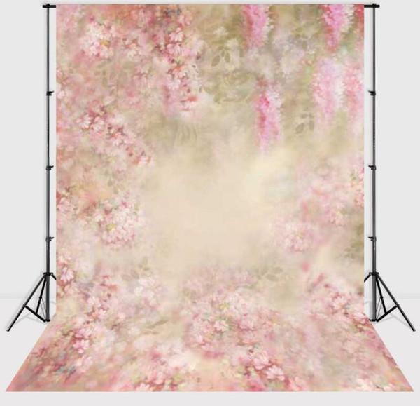 3x5ft 5x5ft delgado Vinilo Recién nacido Fotografía de bebé Telón de fondo de fantasía floral Aduana Estudio fotográfico fondos Prop Galería Fondos de pantalla