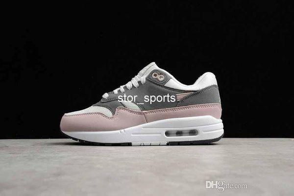 Acheter 2019 Nouveau Chaussures Nike Air Max 1 OG Chaussures De Course Pour Hommes Femmes, Parra Max1 Habanero Rouge Obsidienne Blanc Noir 1s