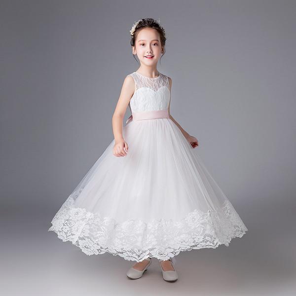 Cuhk children dress girl's bitter fleabane bitter fleabane skirt lace dress dresses show costumes