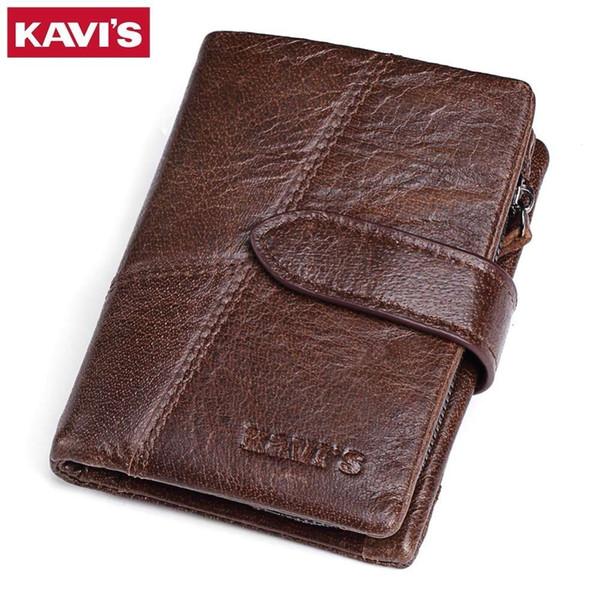 Brand Genuine Leather Men Wallets Luxury Credit Cards Coin Purse Male Small Walet Portomonee Rfid Mini Portfolio Perse