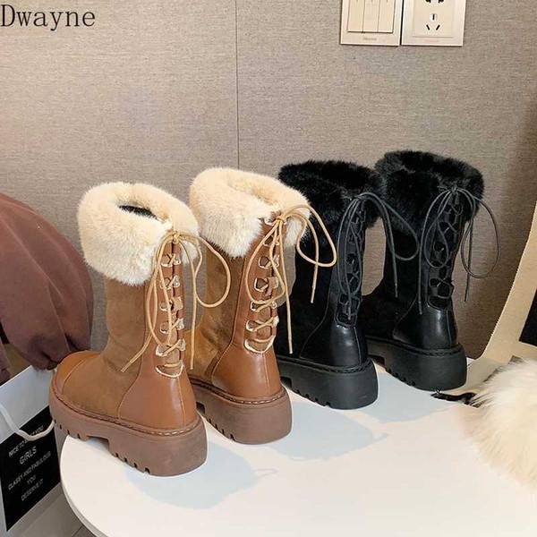 Tüp kar botları kadın 2019 kış yeni kalın alt çizme kalın sıcak artı kadife pamuk kadınlar ise