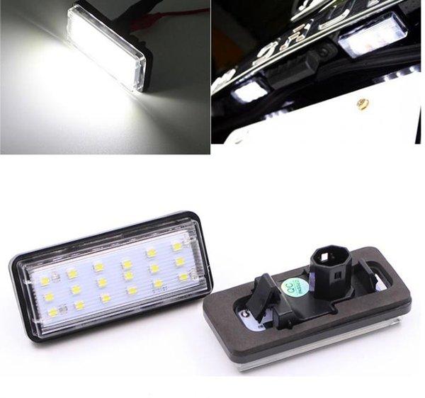 Error libre Coche blanco Número de LED Placa de matrícula Kit para Lexus LX470 GX470 Toyota Land Cruiser 120 Prado Land Cruiser 200