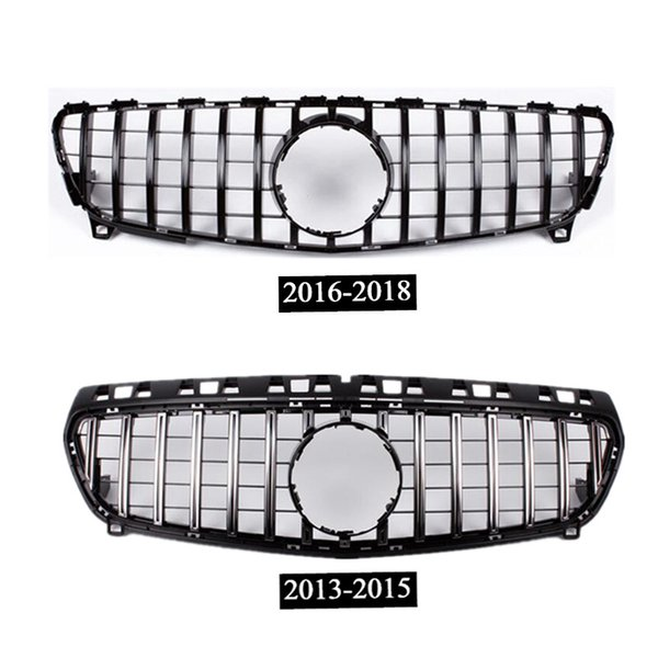 best selling 1 piece High quality ABS Auto Front Grille Black  Silver Kidney Mesh Grilles For B-ENZ A CLASS W176