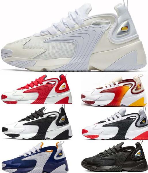 Großhandel Nike Air Max 200 Herren Zoom 2K Lifestyle Laufschuhe Weiß Schwarz Blau ZM 2000 90er Jahre Style Trainer Designer Outdoor Sneakers M2K