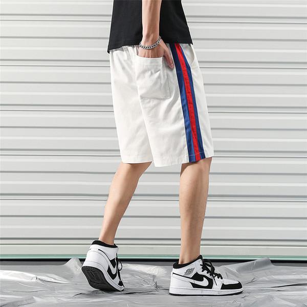 Men's classic vintage side stripe shorts 5xl 2019 summer casual short pants men hip hop streetwear clothing man DK18