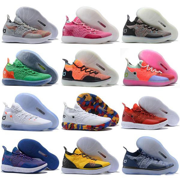 2019 Cheap KD 11 EP Elite Basketball Kids Shoes KD 11s Men Multicolor Peach Mens Doernbecher Trainers Kevin 11 BHM Sneakers