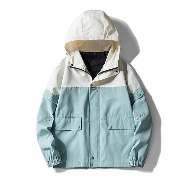 Erkekler Moda Günlük Gevşek Erkek ceketler Streetwear Ceket Erkek Coat Man Fermuar Coats 3 Renkler S-2XL