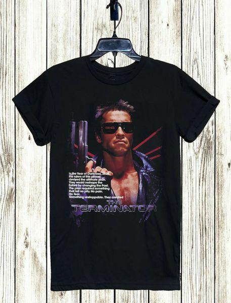 TERMINATOR T-SHIRT S-3XL LIVRAISON GRATUITE UNISEXE SCHWARZENEGGER RETRO CULTE T-shirt Design Tee-shirt basique