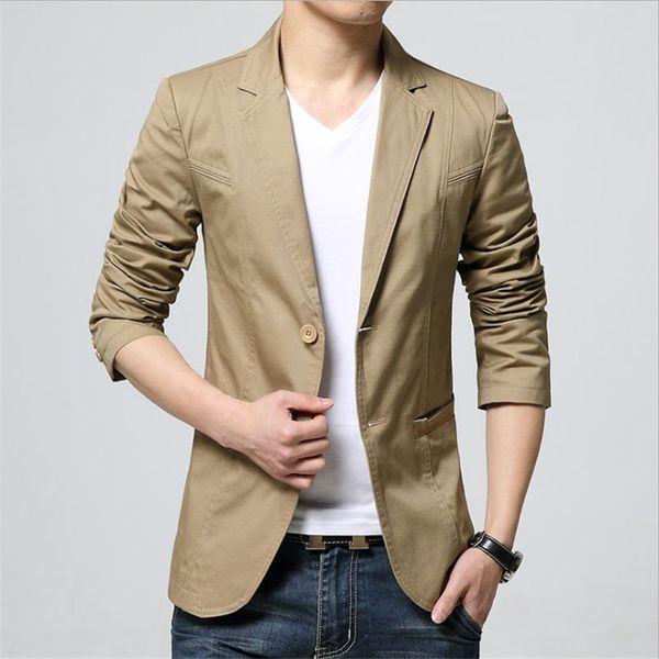 hommes blazers 2019 asie taille S M L XL XXL XXXL hommes veste de costume Slim design mens costumes blazers