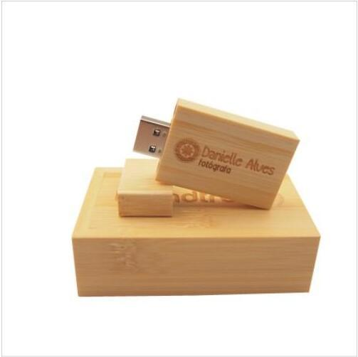 Pendrive Personalizado USB Flash Drive Wooden Pen Drive 4GB 8GB 16GB 32GB 64GB USB 2.0 Wedding Gift(over 30pcs Free Custom Logo)