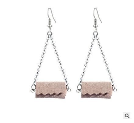 Wood color earrings