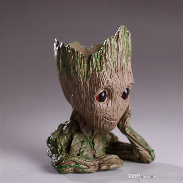 14CM baby grootted Guardians Of The Galaxy Flowerpot Action Figures Cute Model Toy Pen Pot Best Christmas Gifts Kids Hobbies