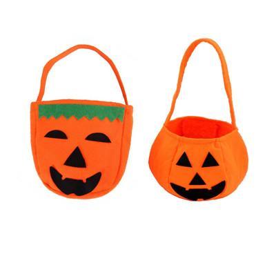 2 Designs Halloween Pumpkin Candy Bag Trick/Treat Handbag Children Gift Tools Basket Craft Supplies Birthday Party Decoration