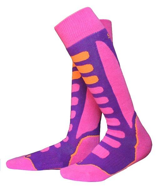 Espesar Invierno Patinar en la nieve Hielo largo Calcetines de esquí Stocking Protección para las piernas Deportes cálidos para niños Niñas Niños