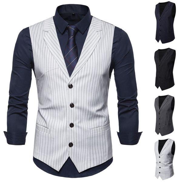 Fashion Suit Vest Men Formal Dress Vest Cloak Men Fashion Business Casual Wedding Tops Jacket Top Coat S -2xl