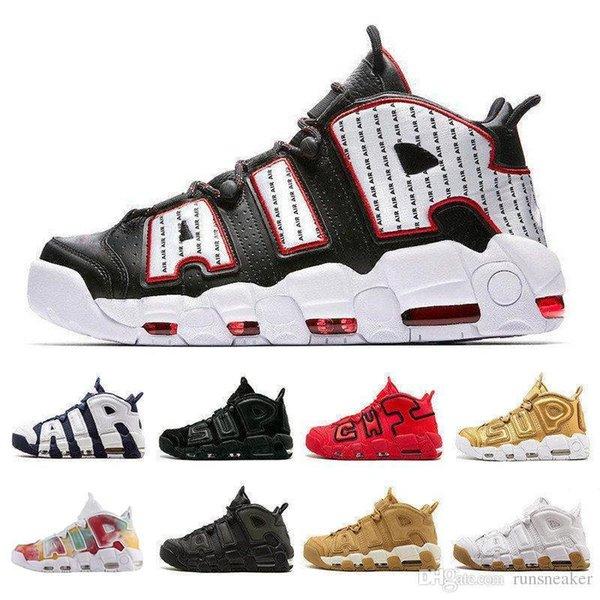 2019 Nouveau 96 QS olympique Varsity Maroon Plus Hommes Chaussures de basket-ball 3M Scottie Pippen Uptempo Formateurs Chicago sport Chaussures de sport Taille 13
