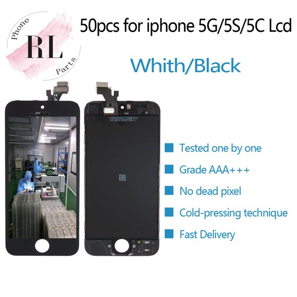 50PCS LCD Screen for iPhone 5 5S 5C LCD Display Digitizer Touch Screen Assembly Free shipping