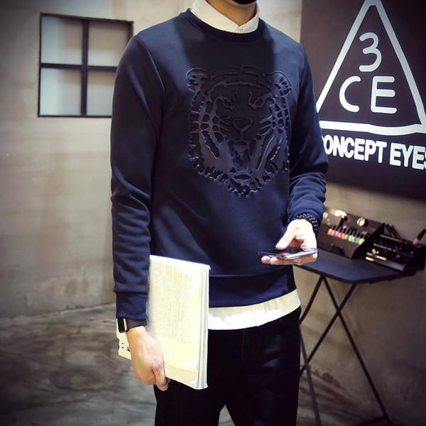 Nouveau sweatshirts à manches longues de la nouvelle europe de la mode 3d imprimé tigre à capuche sweatshirt à col rond automne hiver