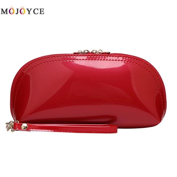 Fashion Women Bling Leather Shell Zipper Wallet Day Clutch Coin Phone Purse Change Handbag carteras y bolsos de mujer #173027