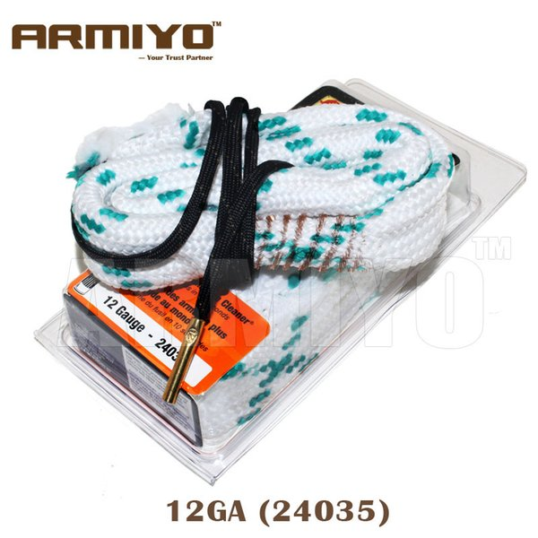 best selling Armiyo 12GA 12 Gauge 18.5mm Gun Bore Brush Rope Cleaner Shot Barrel Cleaning Snake Sling Kit 24035 Hunting Accessories