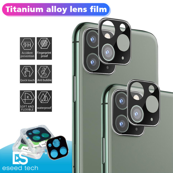 Protector per iPhone 11 Coperchio Macchina fotografica pellicola di schermo Pro Max fotocamera lente Cristallo Full Titanio posteriore dura con la scatola di vendita al dettaglio