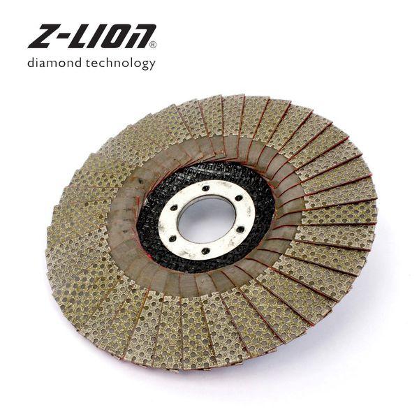 best selling Z-LION 5 Inch 1pc 60 100 200 400 Grit Grinding Wheels 125mm Flap Sanding Abrasive Disc For Angle Grinder Diamond Sanding Pad