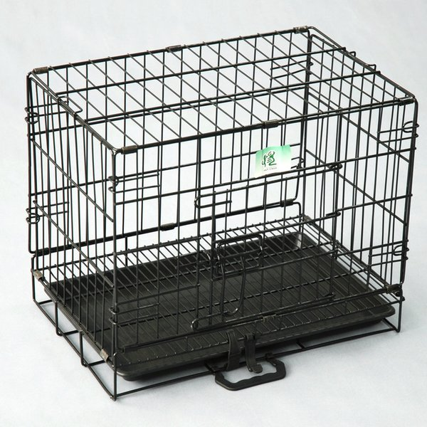 2 Doors Wire Folding Pet Crate Dog Cat Cage Suitcase Kennel Playpen With Tray(Factory Direct Sale, Sample Sale)