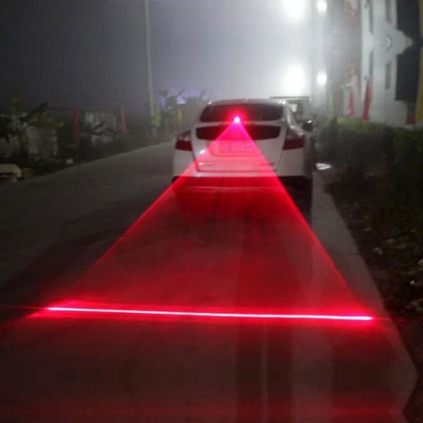 Car tools Auto Automatic LED Laser Fog Light Vehicle Anti-collision Tail Light Brake Warning Light