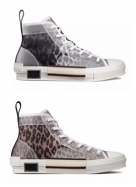 Yeni Moda B23 Çiçekler oblikler Boş Mens lüks Tasarımcı Leopar Platformu Üçlü S Sneakers Erkekler Kadınlar Vintage Trainer Günlük Ayakkabılar