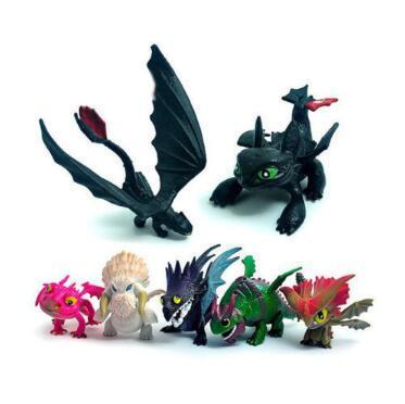 7pcs/set How To Train Your Dragon 3 PVC Model Cartoon Skull Gronckle Night Fury Dragon Action Figures Novelty Items CCA11287 25set