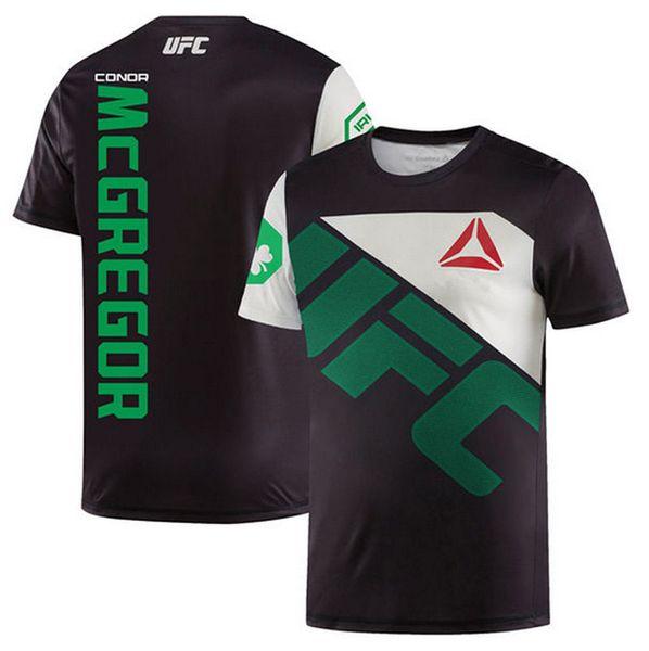 Ufc boca canhão conner McGregor dos homens t-shirt de boxe MMA muay Thai treinamento de combate de boxe manga curta roupas apertadas
