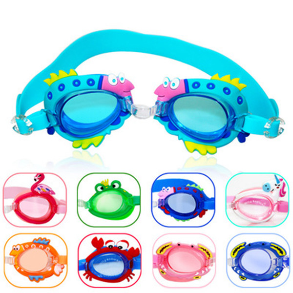 Children Kids Boys Girls Antifog Waterproof High Definition Swimming Goggles Diving Glasses Swim Eyewear 15 colors ZZA769