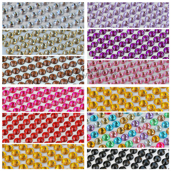 craft net 1040Pcs/set 3MM DIY Decal Acrylic Rhinestones Retail Self Adhesive Scrapbooking Stickers Fabric Nail Art Phone Case Decor 6Z