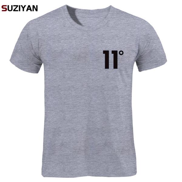 Brand Logo Print 11 Degree Cotton T Shirt Men's T-shirt Short Sleeve New 2018 Funny MenMen Women Unisex Tops Tees T Shirt Men