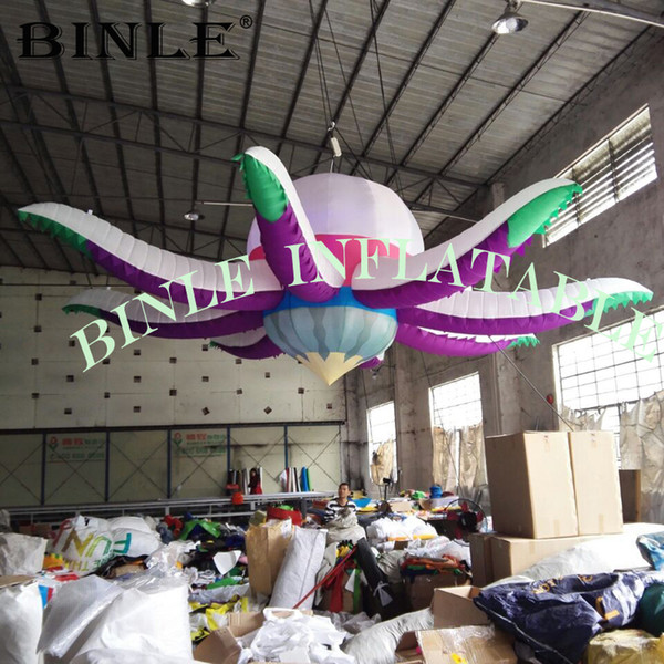 Led lighting decoration inflatable octopus balloon large inflatable flower for party wedding