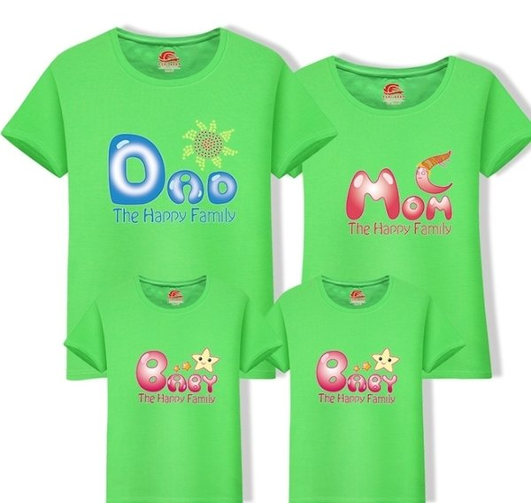 Short Sleeves T Shirt Family Clothes Cotton Matching 2019 New Family Look Mom Dad T-shirts One Piece Child Mother Clothing Fy049