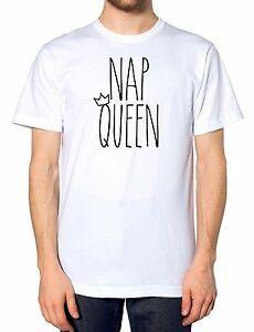 Nap Queen T Shirt Pyjama Fashion Baggy Filles Piège Fetty Princesse Grincheux Présent