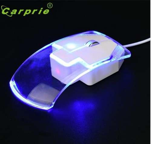 CARPRIE Game Mouse Ergonomic 1600 DPI Optical USB LED Wired Mice For PC Laptop Computer Jan18 Factory price