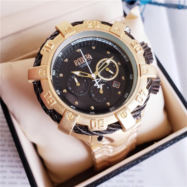 Brietling luxe INVICTA mens montres à quartz montre célèbre marque mode 316 fine montre étanche en acier 3a qualité de