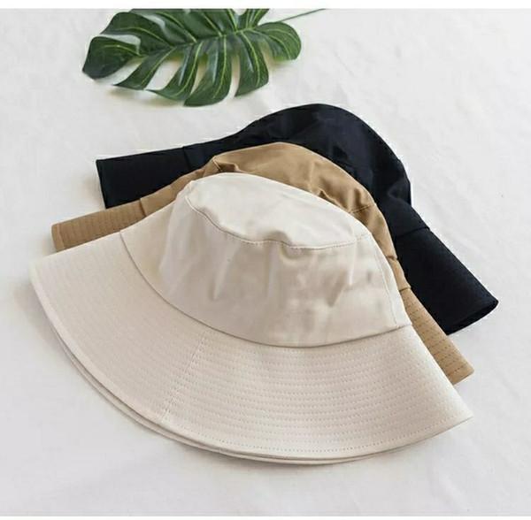 Ins black fisherman hat for women summer south Korean version goes with Japanese harajuku casual short hair south Korean trend