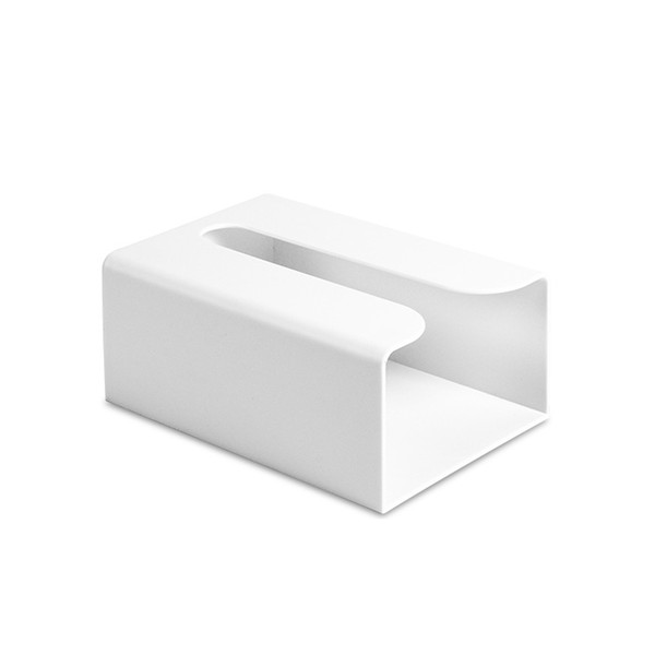Solid Tissue Box Square Storage Easy Install Household Office Eco Friendly Wall-mounted Paper Multi-function Lightweight ABS