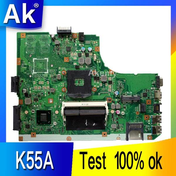 AK K55A Scheda madre del computer portatile per ASUS K55A A55V K55VD K55V K55 Test scheda madre originale GM